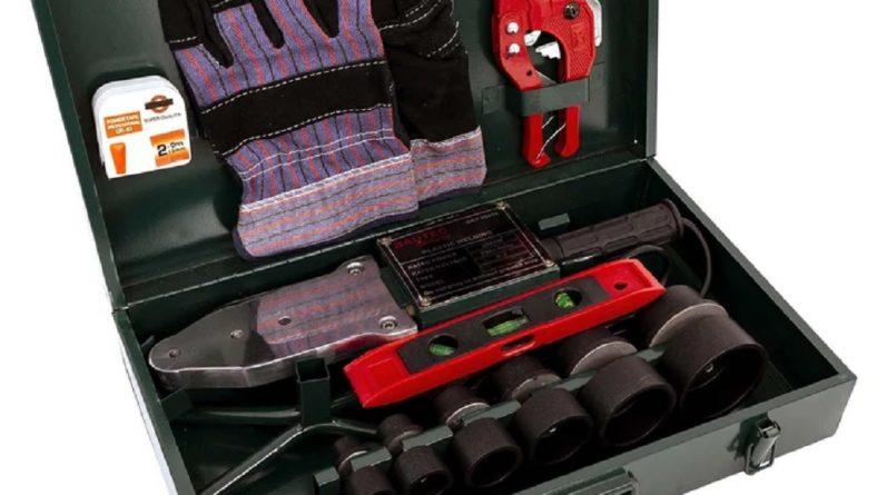 Trusa cu aparat de lipit ţevi PPR – polipropilena – pentru repararea țevilor din casă